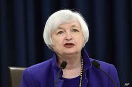 Federal Reserve Chair Janet Yellen speaks during a news conference in Washington, Wednesday, Dec. 16, 2015, following an announcement that the Federal Reserve raised its key interest rate by quarter-point, heralding higher lending rates in an economy