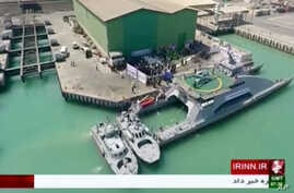 Mideast Iran Military Ship