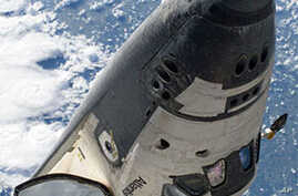 Astronauts Install New Batteries on Space Station