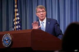 Defense Secretary Ash Carter speaks during a news conference at the Pentagon, where he announced new rules allowing transgender individuals to serve openly in the U.S. military, June 30, 2016.