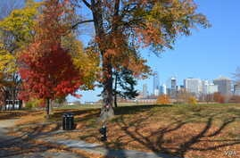 Governors Island National Monument, a former military base, is now a scenic stretch of undeveloped land with spectacular views of the Manhattan skyline.