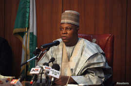 """FILE - Borno state Governor Kashim Shettima on Saturday commended security forces, saying that the death toll in a Boko Haram raid on the village of Zabarmari would have been much higher had it not been for their """"gallantry."""""""