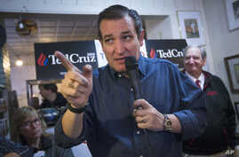 Republican presidential candidate, Senator Ted Cruz, speaks during a campaign stop at the Freedom Country Store in Freedom, New Hampshire, Jan. 19, 2016.