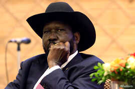 South Sudan President Salva Kiir attends the signing of a peace agreement with the South Sudan rebels aimed to end a war in which tens of thousands of people have been killed, in Khartoum, Sudan June 27, 2018.