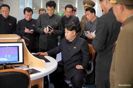 North Korean leader Kim Jong Un at the Sci-Tech Complex, in this undated photo released by North Korea's Korean Central News Agency in Pyongyang, Oct. 28, 2015.