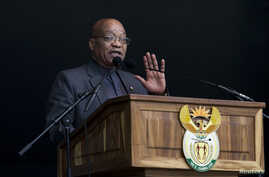 South African President Jacob Zuma speaks at a Human Rights Day rally in Durban, South Africa, March 21, 2016. Zuma has denied allegations that the wealthy Gupta family wields undue influence on his government.