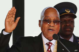 South African President Jacob Zuma is sworn in for a second term in Pretoria, South Africa, on May 24, 2014.
