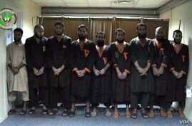 Islamic State fighters are pictured after being arrested in Kabul during a special operation by the Afghan National Security forces, Sept. 18, 2018. (Photo courtesy of Afghanistan National Directorate of Security)