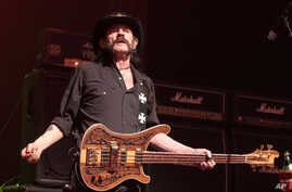 FILE - Lemmy Kilmister of the band Motörhead performs in c