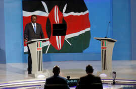 Kenyan opposition leader Raila Odinga, the presidential candidate of the National Super Alliance (NASA) coalition, attends a Presidential Debate ahead of a general election in Nairobi, Kenya, July 24, 2017.