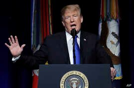 President Donald Trump speaks about American missile defense doctrine, Jan 17, 2019, at the Pentagon.