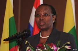Dr. Fatoumata Nafo-Traore speaks during the opening ceremony of the meeting on efforts to prevent and control malaria at Thai-Burma Border in Kanchanaburi province, October 27, 2012.