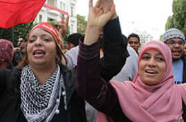 Tunisians Mark First Anniversary of Ben Ali Ouster