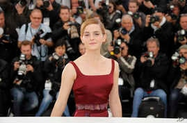 Actor Emma Watson poses for photographers during a photo call for the film The Bling Ring at the 66th international film festival, in Cannes, southern France, May 16, 2013.