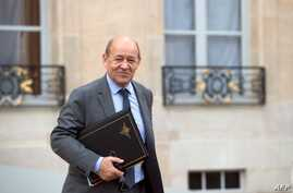French Defence Minister Jean-Yves Le Drian at Elysee presidential Palace Feb. 6, 2013