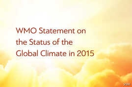 Cover of World Meteorological Organization's annual State of the Climate report