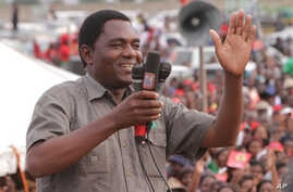 Zambia's outspoken opposition leader Hakainde Hichilema, has been charged with treason after allegedly blocking the president's motorcade recently, police said Wednesday, April 12, 2017.