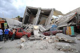 Destruction in Port-au-Prince, Haiti, 15 Jan 2010