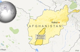 Map showing Helmand province, Afghanistan