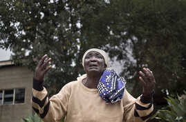 Mary Italo grieves for her son Thomas Abayo Italo, 33, who was killed in the Westgate Mall attack, as she waits to receive his body at the mortuary in Nairobi, Kenya, Sept. 25, 2013.