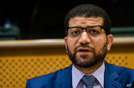 "The Committee to Protect Journalists (CPJ) Middle East and North Africa Program Coordinator, Sherif Mansour, presents the CPJ report "" Why now is the time to sway Rouhani to meet his promises for press freedom in Iran"", at the European Parliament in"