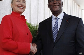 Clinton,  Ouattara Discuss Ivory Coast Reconciliation