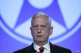 Secretary of Defense Jim Mattis delivers the keynote address during the Air Force Association's Air, Space and Cyber Conference, at the Gaylord National Resort and Convention Center, in National Harbor, Maryland, Sept. 20, 2017.