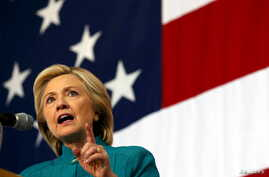 U.S. Democratic presidential candidate Hillary Clinton speaks at a campaign event in Des Moines, Iowa, United States, June 14, 2015.