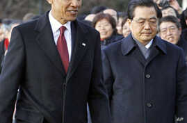 Top US, Chinese Business Leaders Meet With Obama, Hu