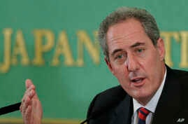 U.S. Trade Representative Michael Froman speaks during a press conference at the Japan National Press Club in Tokyo, Aug. 19, 2013.