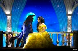 "A scene from Disney's ""The Beauty and the Beast"" Broadway show in India."