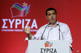 Greek Prime Minister Alexis Tsipras addresses a meeting of his ruling radical left Syriza party's central committee in Athens, July 30, 2015.