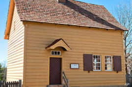 The 1771 Miksch House in Old Salem was built of logs but soon covered in clapboard and painted.