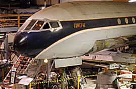 The de Havilland Comet being restored in Everett, Washington.