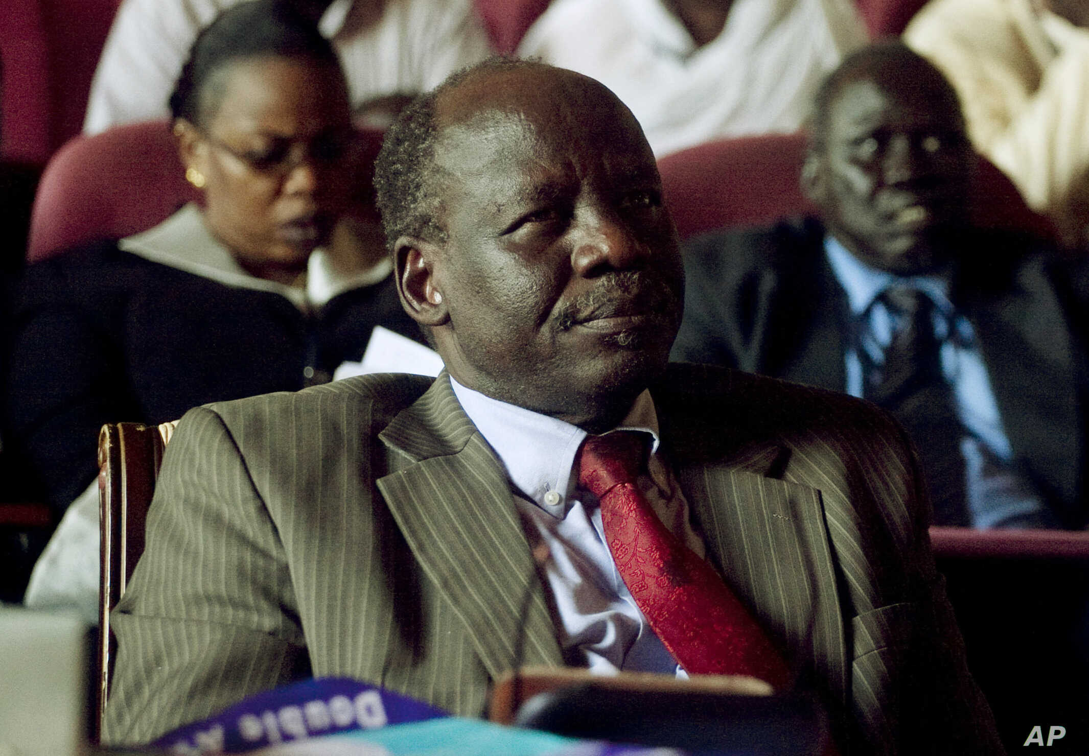 South Sudan Politics: South Sudan's top opposition figure Lam Akol, seen in this 2010 file photo, has quit the country's unity government and declared the death of the peace deal aimed at ending the country's civil war