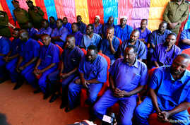 Prisoners from Darfur rebel groups wait to be released according to the general amnesty decision of President Omar Bashir, at the national prison in Khartoum, Sudan, March 9, 2017.