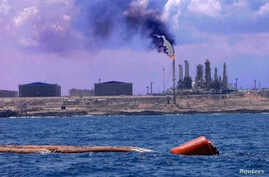 A general view of the port and Zawiya Oil Refinery, west of the city of Tripoli, Libya, Aug. 22, 2013.