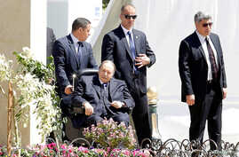 FILE - Algerian President Abdelaziz Bouteflika is seen in Algiers, Algeria, April 9, 2018.