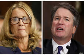 In this combination image of Reuters photos, Christine Blasey Ford, left, and Supreme court nominee Brett Kavanaugh testify separately before the Senate Judiciary Committee on Capitol Hill in Washington, Sept. 27, 2018.