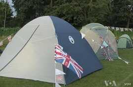 Campers Brave British Weather to See Olympics