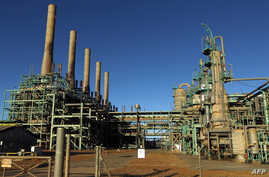 In this file photo taken on Jan. 11, 2017, a general view shows an oil refinery in Libya's northern town of Ras Lanuf.
