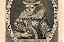 Pocahontas, from a 1616 engraving believed to be the work of Simon van de Passe. Courtesy John Carter Brown University, Brown University.
