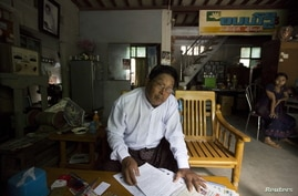 Candidate Khin Maung Thein, photographed Oct. 5, 2015, hails from an obscure little party and runs his campaign from a two-story home that doubles as the family printing business. He is the sole Mandalay Muslim entered in Myanmar's historic general e