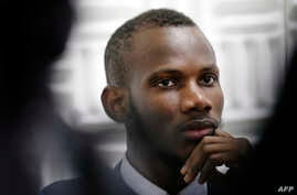 Malian Lassana Bathily, a Muslim employee who helped Jewish shoppers hide in a cold storage room from an islamist gunman during the Jan. 9, 2015 attack, is pictured in Paris, Jan. 15 , 2015.