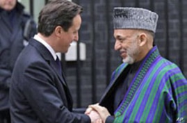 Afghan, British Leaders Discuss Security Transition