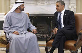Obama, UAE Leader Discuss Mideast Issues at White House