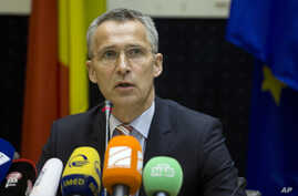 NATO Secretary-General Jens Stoltenberg speaks during a media conference in Brussels May 19, 2015.