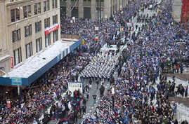 Giants Football Team Gets Ticker Tape Parade