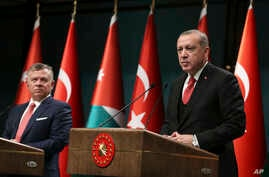 Turkey Jordan Erdogan King Abdullah
