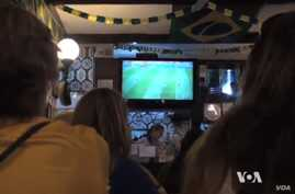 Locals settle in to watch the Seleção, the Brazilian natio